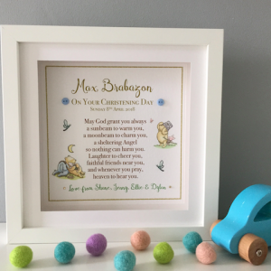 Christening Frame for Boy from as cute as a button