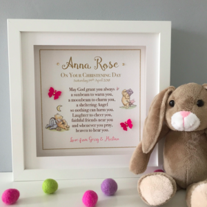 Christening Frame for girl from as cute as a button