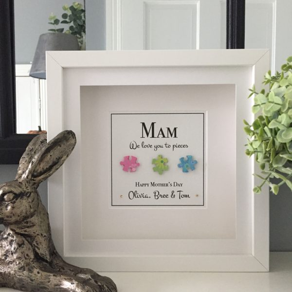 These personalised frames are not only beautiful home decor pieces but highly personalised keepsakes that touch the heart like no other gift can. They bring a tear to the recipients eye and show how much thought and effort went into choosing a gift made especially for them. Presented in a beautiful gift box these frame really are the perfect gift ready to go!