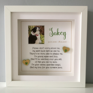a beautiful personalised framed gift for pets