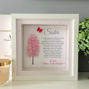 Sister Personalised Frame as cute as a button frames