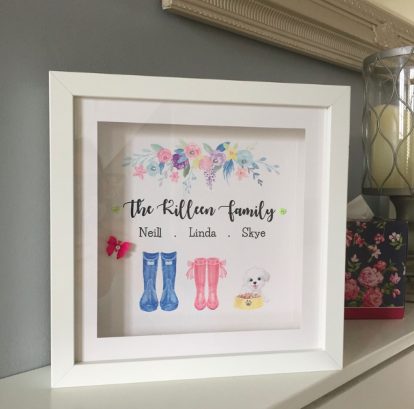 a beautiful personalised framed gift for any occasion