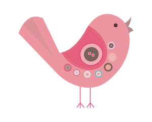 As Cute As A Button Pink Bird