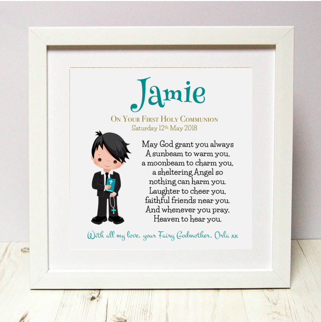 Communion Keepsakes for Boys and Girls! Different designs to choose from.