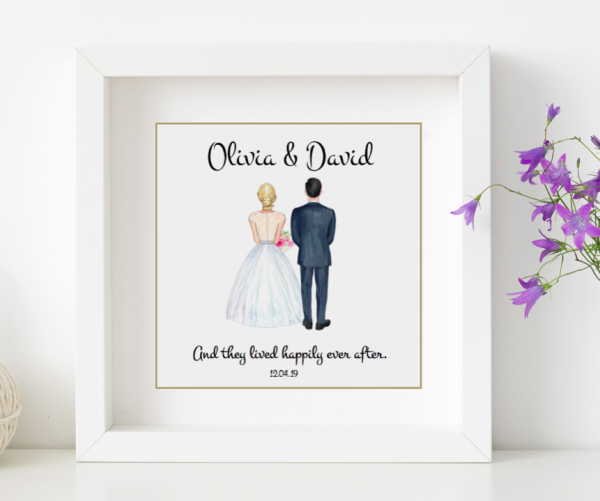 bride and groom gift