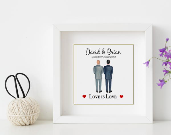 mr & Mr personalised wedding frame
