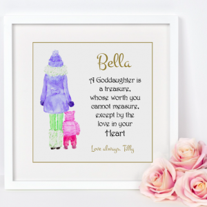 Goddaughter Gosdon As Cute as a Button Personalised frames