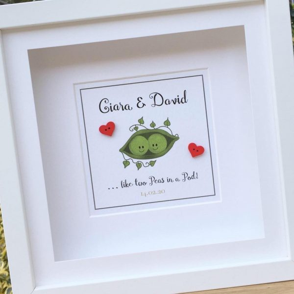 As Cute as a button personalised frames