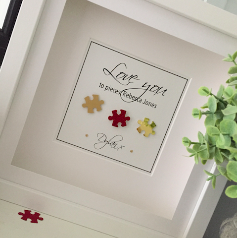 Valentines gift As cute as a button frames